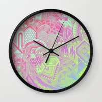 hologram Wall Clocks featuring Hologram Wave by michiko_design