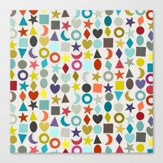 geo garland Canvas Print
