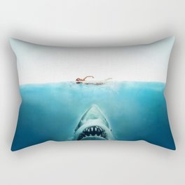 First And Last Swim Of The Day Rectangular Pillow