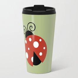 Ladybug (Ladybird, Lady Beetle) - Red White Travel Mug
