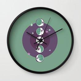 Waxing and Waning Moons Wall Clock