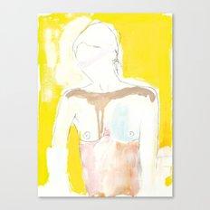 Figure on Gold Canvas Print