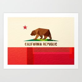 California 2 (rectangular version) Art Print