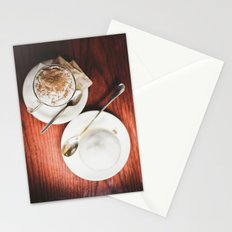 latte and hot chocolate Stationery Cards