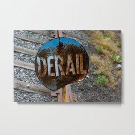 Derail at Steamtown Rail Yard Scranton Safety Railroad Safety Equipment Metal Print