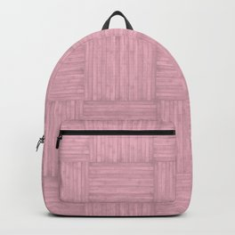 Pink Faux Bois Wood Pattern Backpack