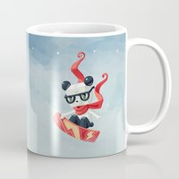 snowboard Mugs featuring Snowboarding by Freeminds