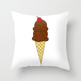 Two Scoops Throw Pillow