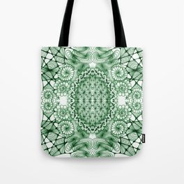 Jade Zentangle Tile Doodle Design Tote Bag
