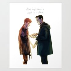 if you must mourn Art Print