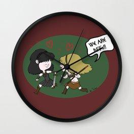 Heroic BFFs!! Wall Clock