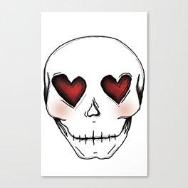 Skull lover Canvas Print
