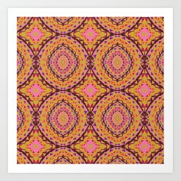 Mosaique rose Art Print