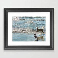 Blue and Silver Framed Art Print