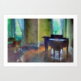 Lobby Piano Art Print