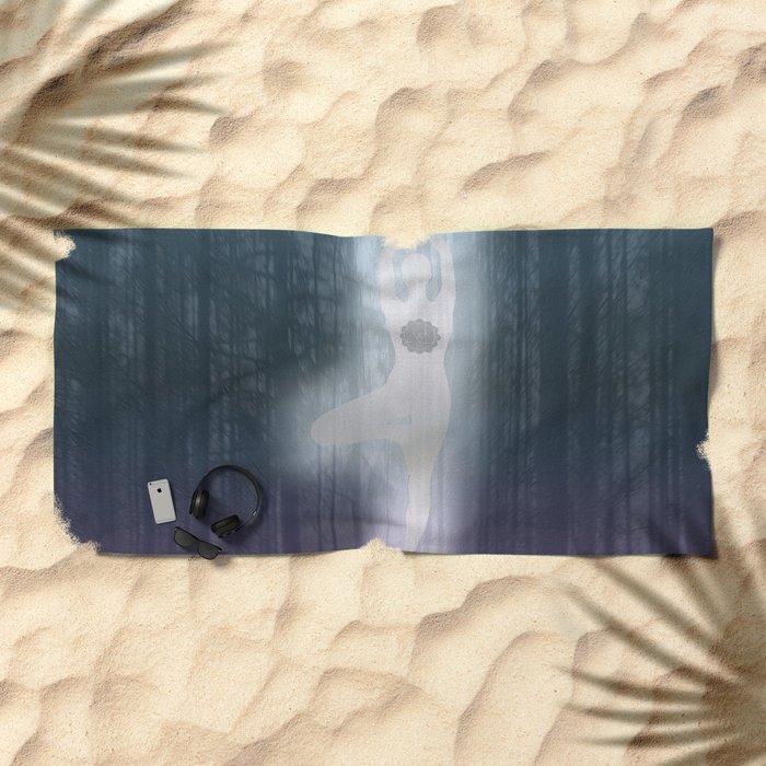 Forest Yoga Beach Towel