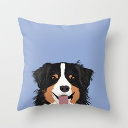 Australian Shepherd cute pastel aussie owner gifts must haves for dog person customized pet portrait Throw Pillow