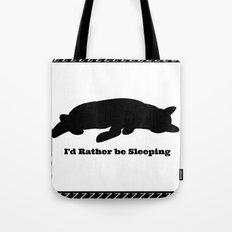 Cat nap w/border Tote Bag