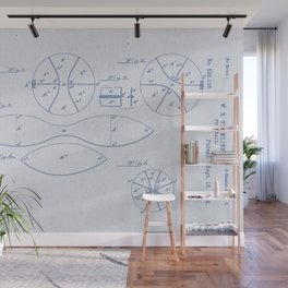 Football Patent Blue Paper Wall Mural