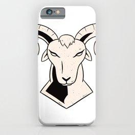 drawn rams head iPhone Case