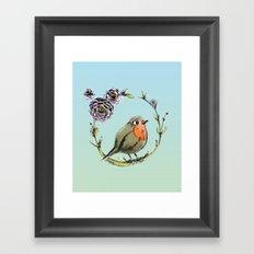 Rouge gorge Framed Art Print