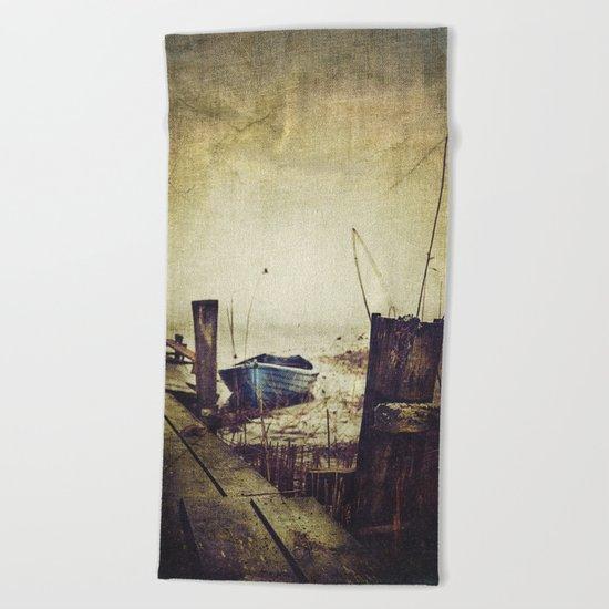 Rugged fisherman Beach Towel