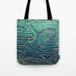 Japanese Bird Engraving Tote Bag
