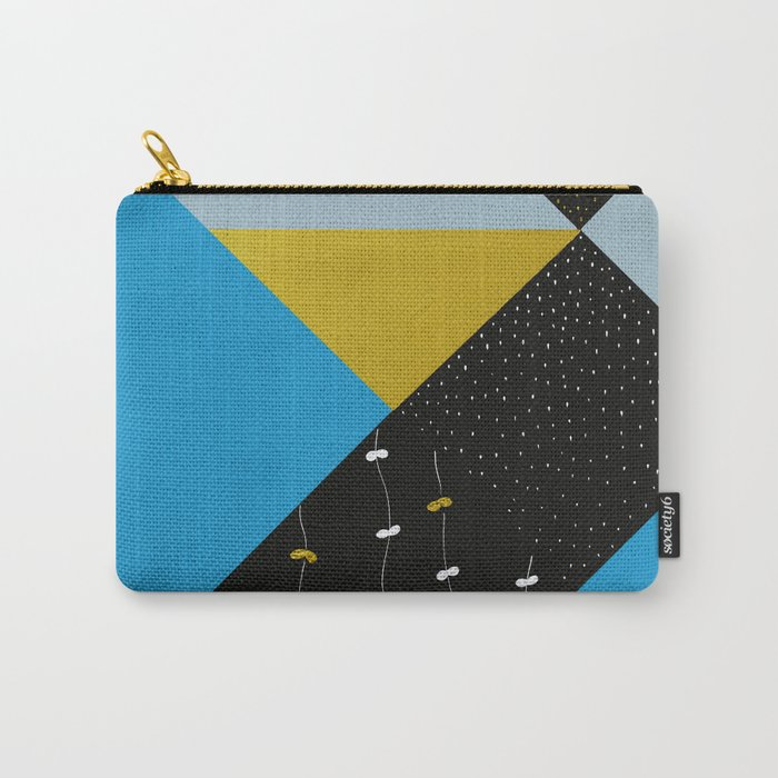 Garden In Tangrams Carry-All Pouch