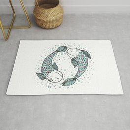 Pisces - weird fishes II Rug