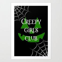 Creepy girls club Art Print