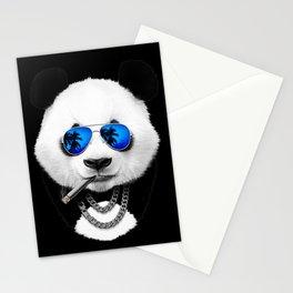 Blue Summer Panda Stationery Cards