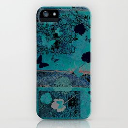 butterflies_I turquoise iPhone Case