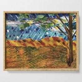 Storybook Landscape Collage Serving Tray