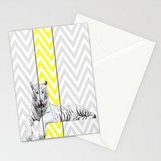 Chevron Tiger Stationery Cards