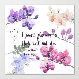 Paint Flowers Canvas Print