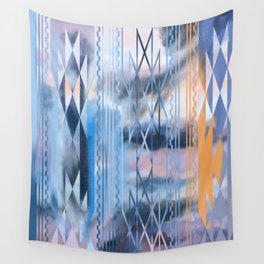 Blue Tribal No.2 Wall Tapestry