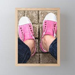 Pink sneakers. Framed Mini Art Print