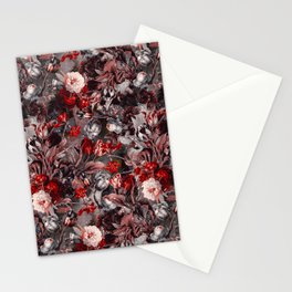 New Year's flowering night Stationery Cards