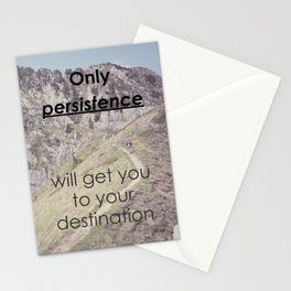 Motivational - Be persistent! Stationery Cards
