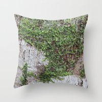 moss Throw Pillows featuring Moss by Cassidy Marshall