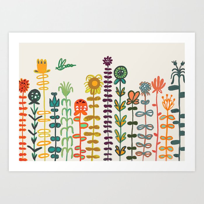 Happy garden Kunstdrucke