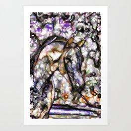 Horse on pasture Art Print
