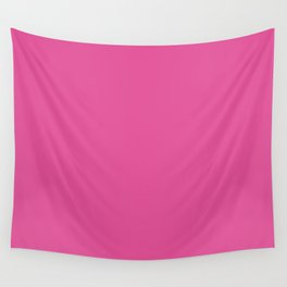 Raspberry Pink Solid Color Wall Tapestry