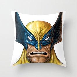 Masked mutant Berserker Throw Pillow