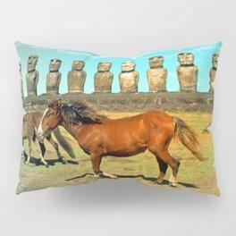 EASTER ISLAND SCENE Pillow Sham