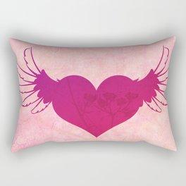 Winged Heart Rectangular Pillow