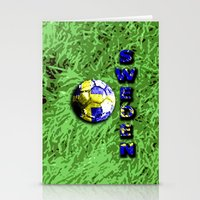 sweden Stationery Cards featuring Old football (Sweden) by seb mcnulty