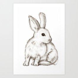Bonnie Bunny Art Print