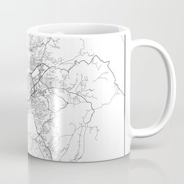 Minimal City Maps - Map Of Tirana, Albania. Coffee Mug