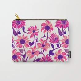 Sunflower Watercolor – Pink & Purple Palette Carry-All Pouch